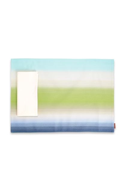 MISSONI HOME TONGA PLACE MAT Light green E - Back