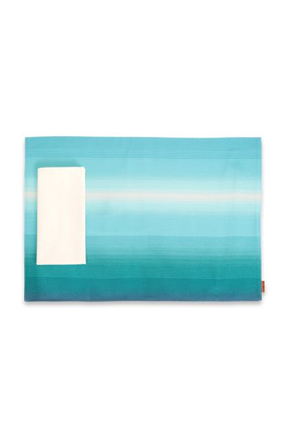 MISSONI HOME TONGA PLACE MAT Azure E - Back