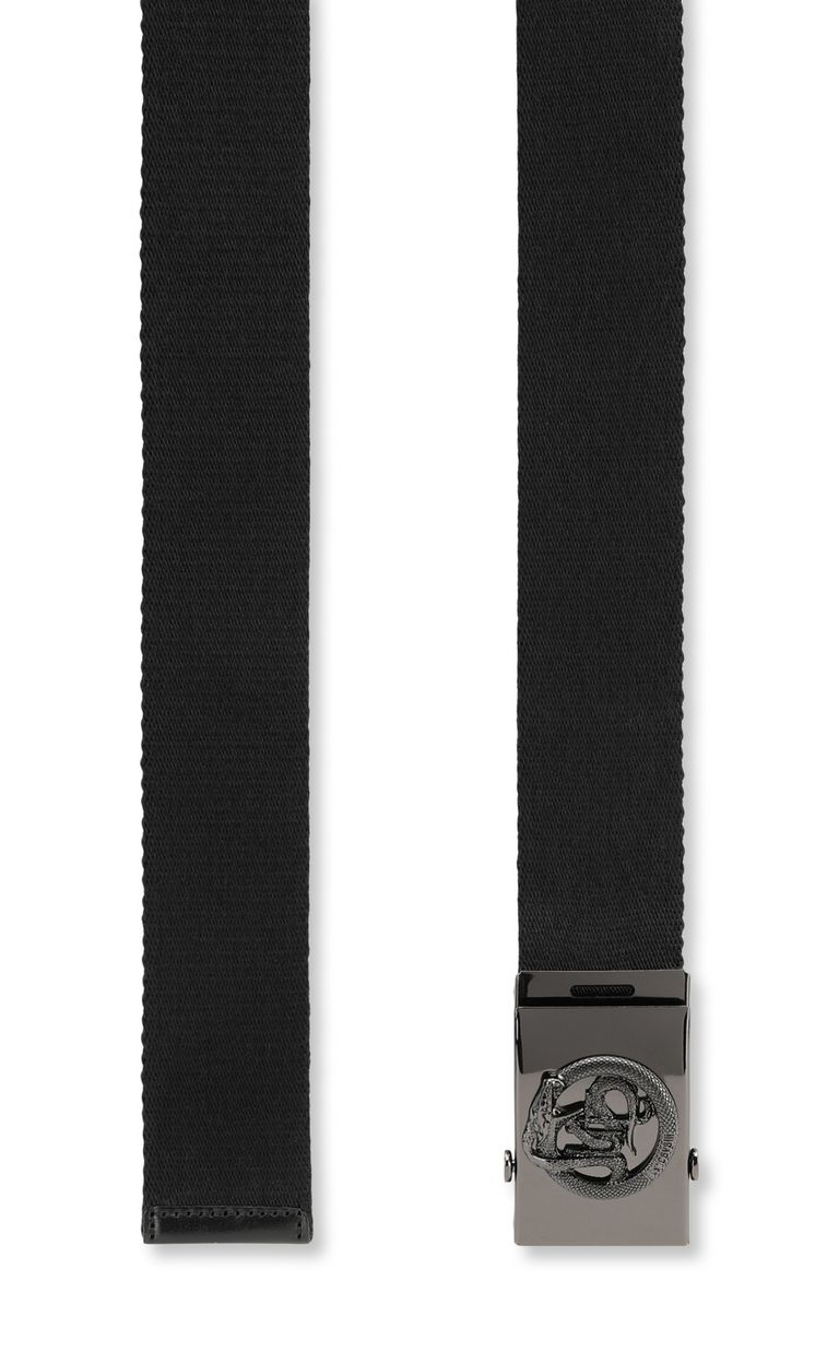 JUST CAVALLI Fabric Just-Snake-logo belt Belt Man d
