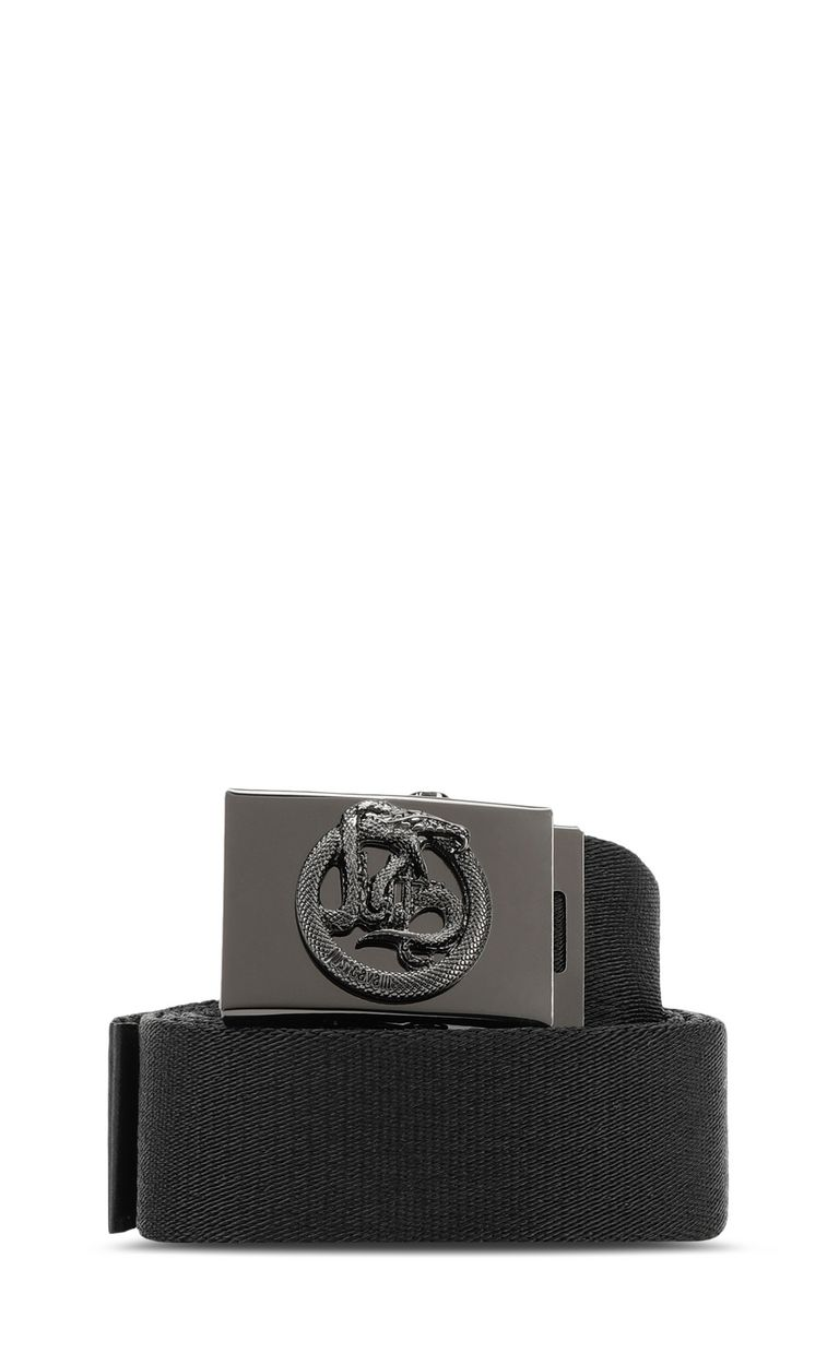 JUST CAVALLI Fabric Just-Snake-logo belt Belt Man f