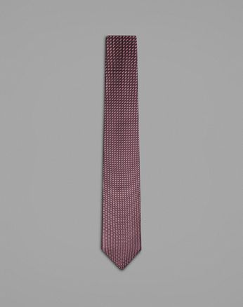 Bordeaux Tie With Geometric Design