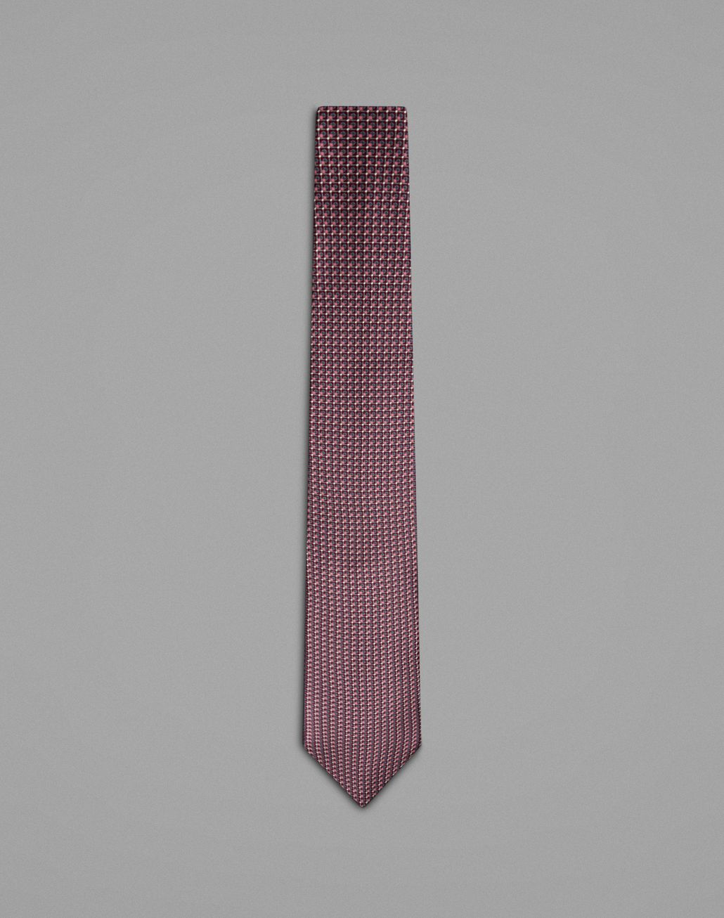 BRIONI Bordeaux Tie With Geometric Design Tie Man f