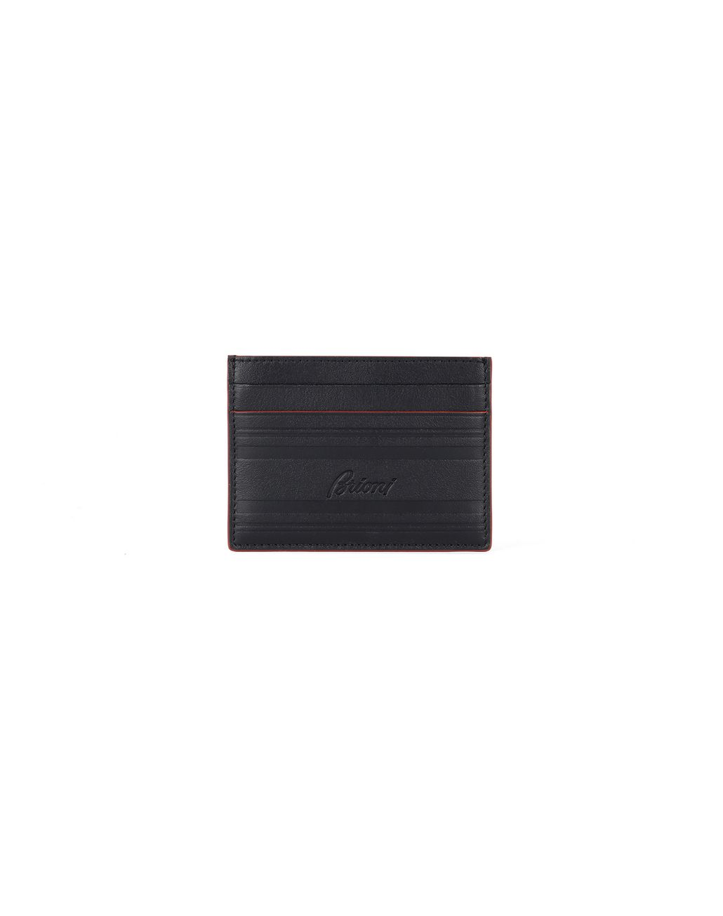 BRIONI Black Cardholder Leather Goods Man f