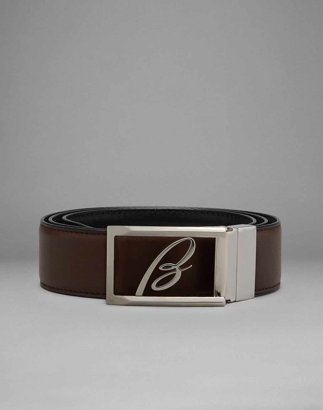 BRIONI Brown And Blue Reversible Belt Belt Man f