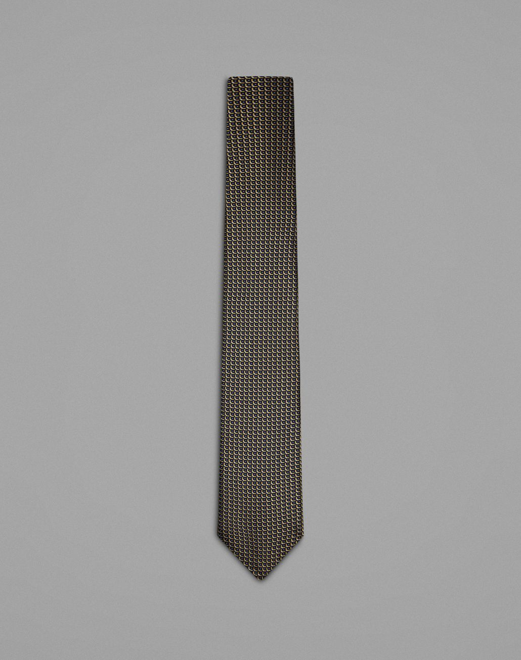 BRIONI Blue Micro Designed Tie Tie Man f
