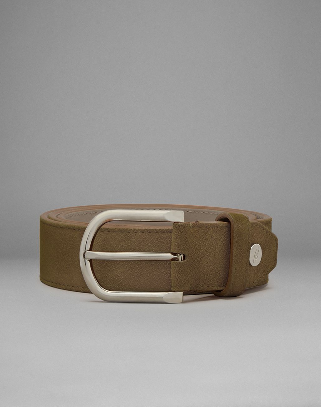 BRIONI Brown Suede Reversible Belt Belt Man f