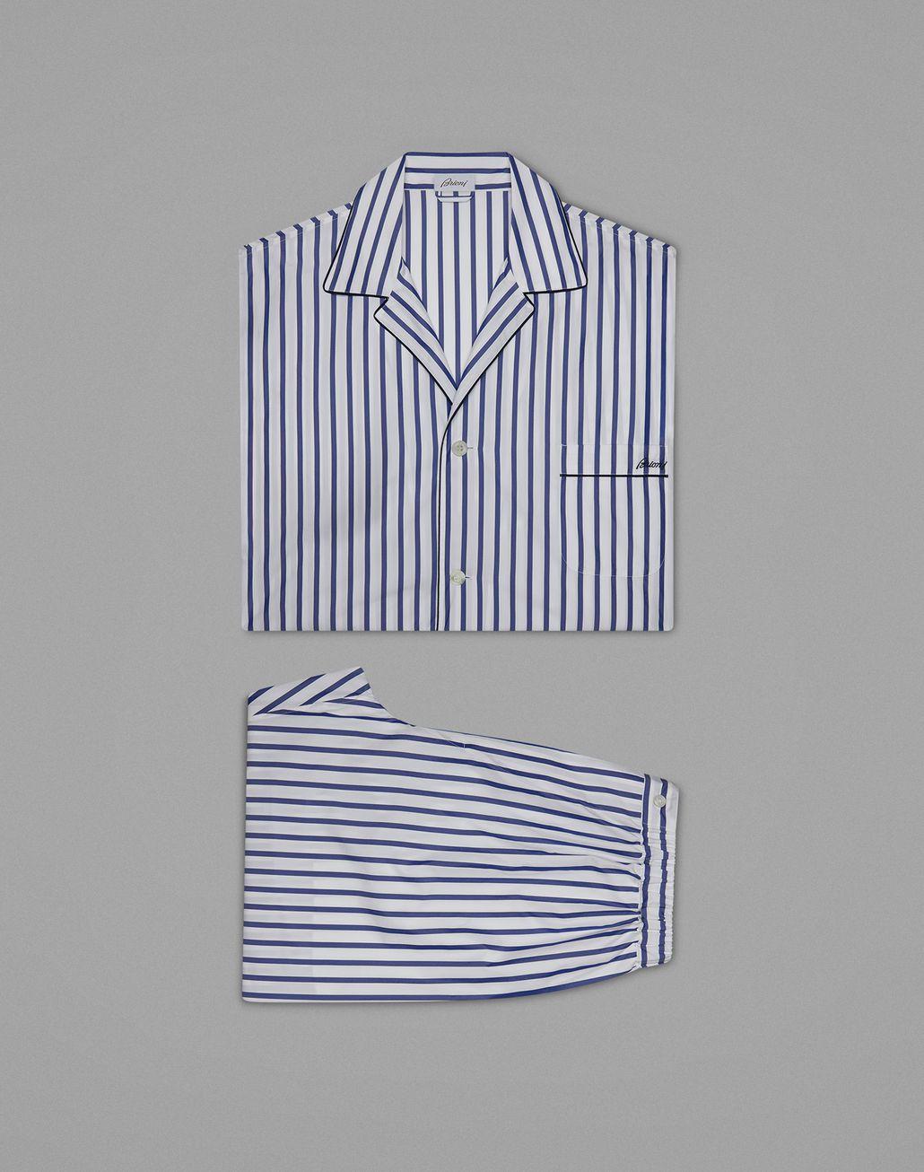 BRIONI Синяя Пижама В Полоску Одежда для дома Для Мужчин f