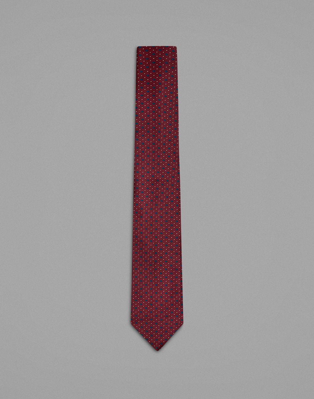 BRIONI Бордовый галстук с геометрическим мотивом Галстук Для Мужчин f