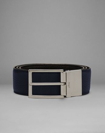 Blue And Brown Reversible Belt