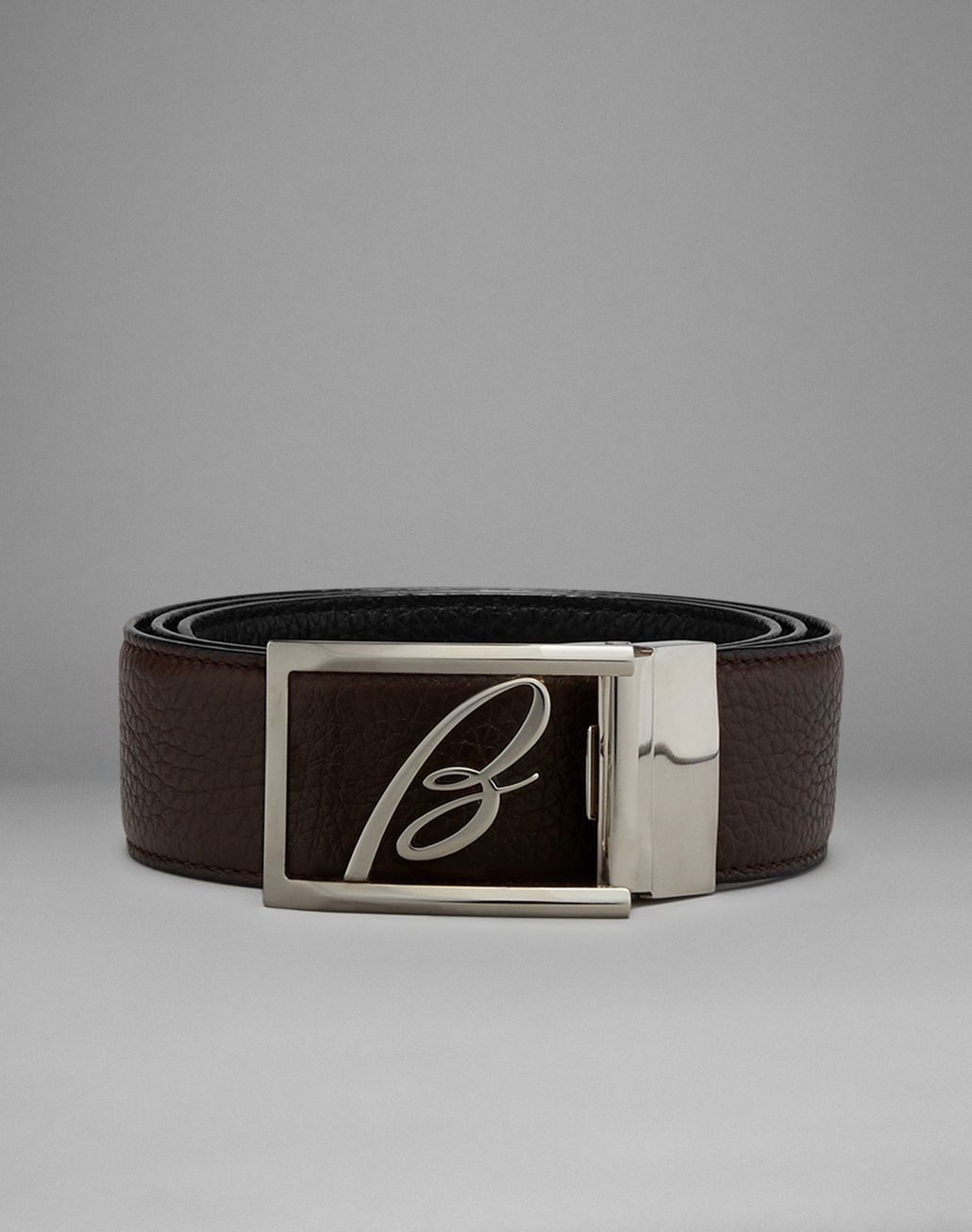 BRIONI Black And Brown Reversible Belt Belt Man f