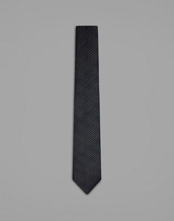 Синий галстук с микроузором
