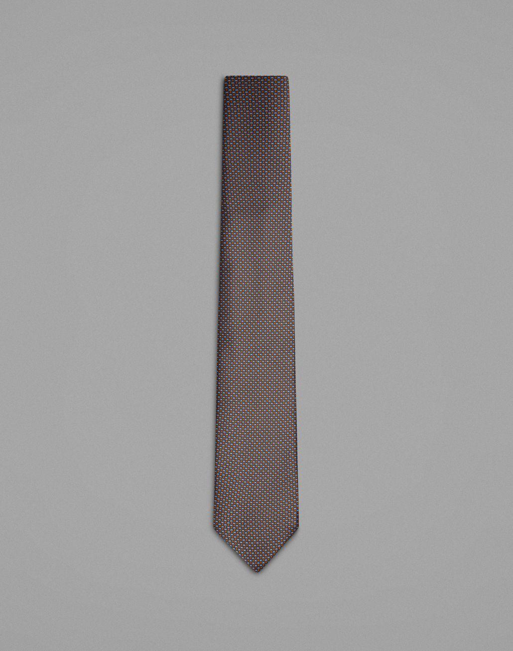 BRIONI Cravatta Grigia con Micro-Fantasia Cravatta Uomo f