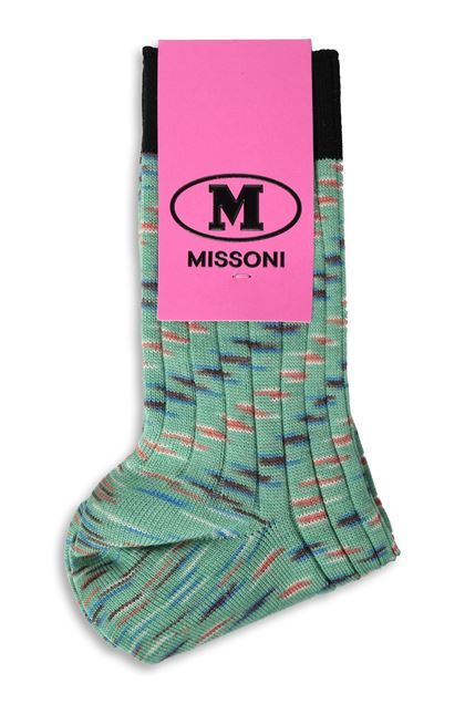 M MISSONI Short socks Green Woman - Front