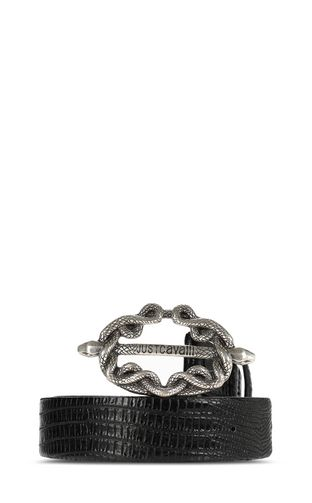JUST CAVALLI Belt Man Crocodile-skin-effect belt f