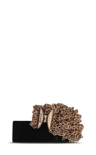 JUST CAVALLI Belt Woman Belt with logo and chain hardware f