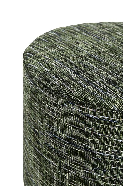 MISSONI HOME YAKIMA CYLINDER POUF Dark green E - Front