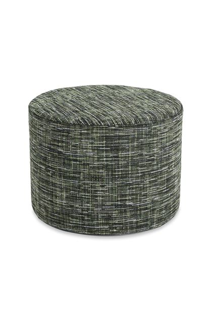 MISSONI HOME YAKIMA CYLINDER POUF Dark green E - Back