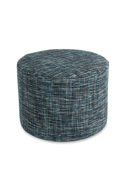 MISSONI HOME YAKIMA CYLINDER POUF Dark blue E - Back