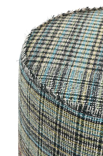 MISSONI HOME YORKSHIRE CYLINDER POUF Black E - Front
