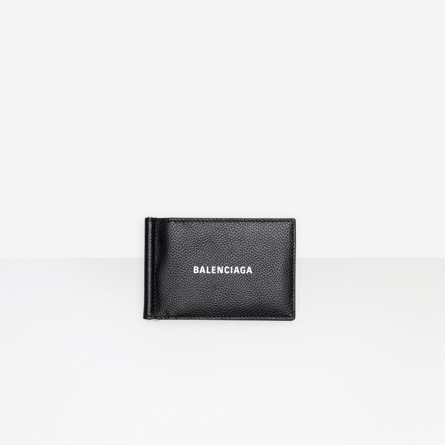 Cash Bill Clip Square Wallet BLACK