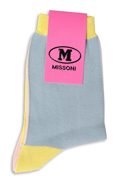 M MISSONI Short socks Sky blue Woman - Front