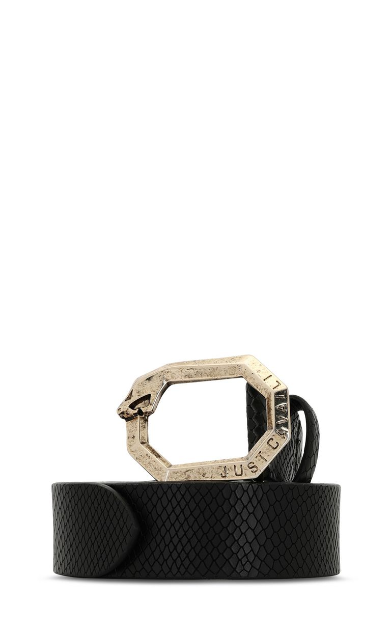 JUST CAVALLI Belt with snake buckle Belt Woman f