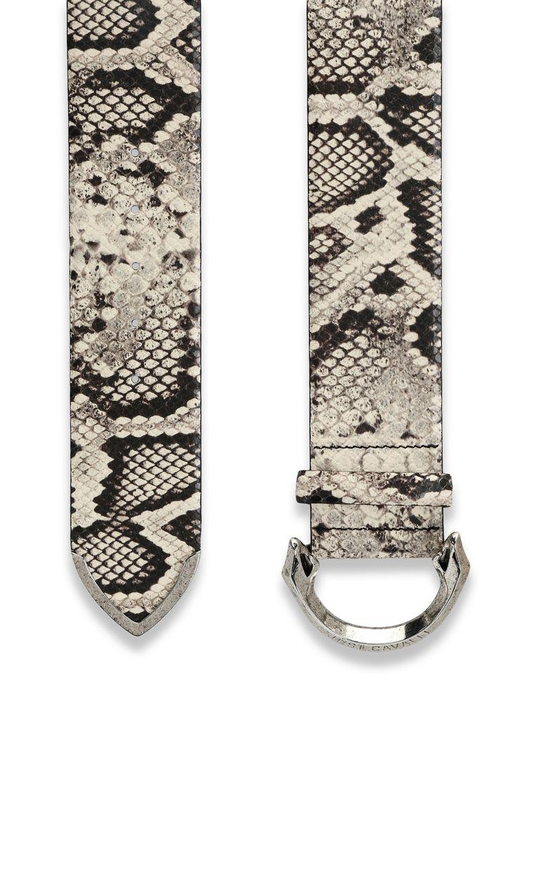 JUST CAVALLI Python-print leather belt Belt Woman d