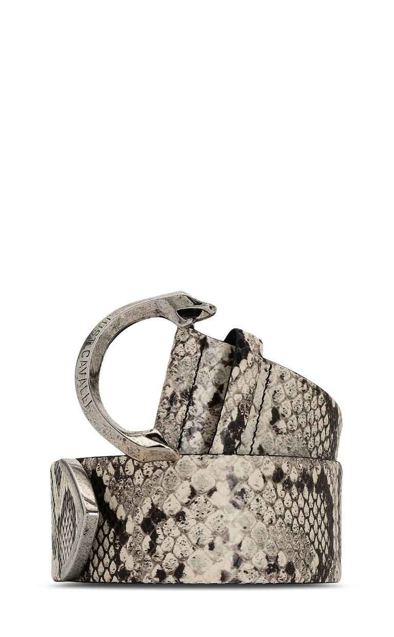 JUST CAVALLI Python-print leather belt Belt Woman f