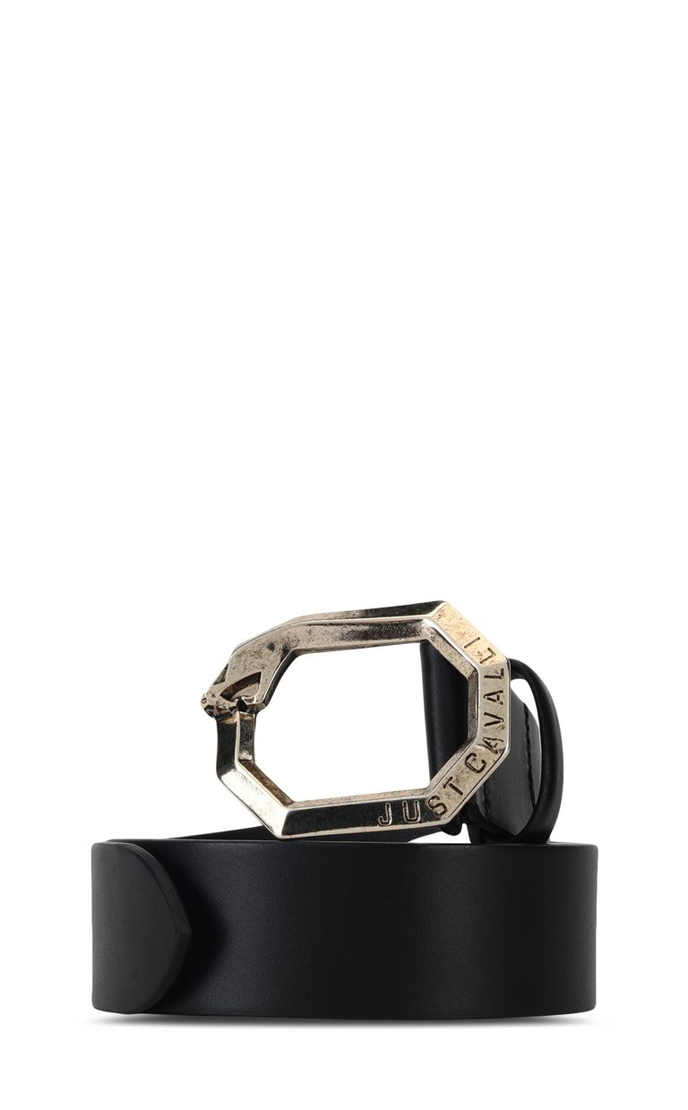 JUST CAVALLI Snake-buckle belt with python print Belt Man f