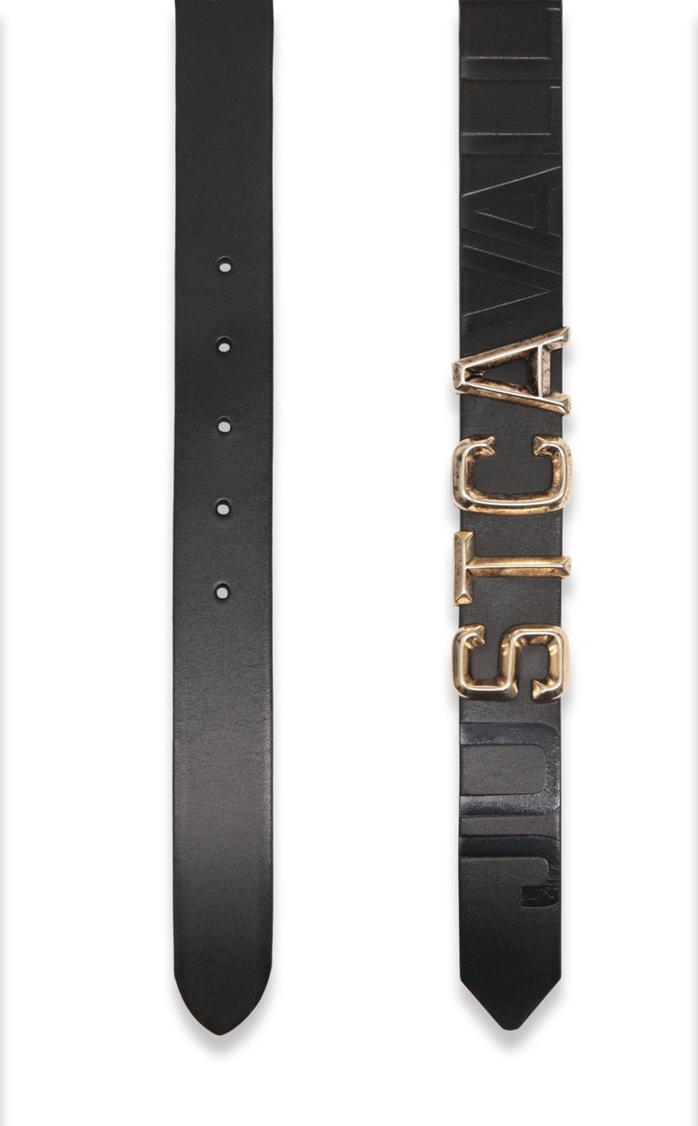 JUST CAVALLI Belt with STCA logo Belt Man d