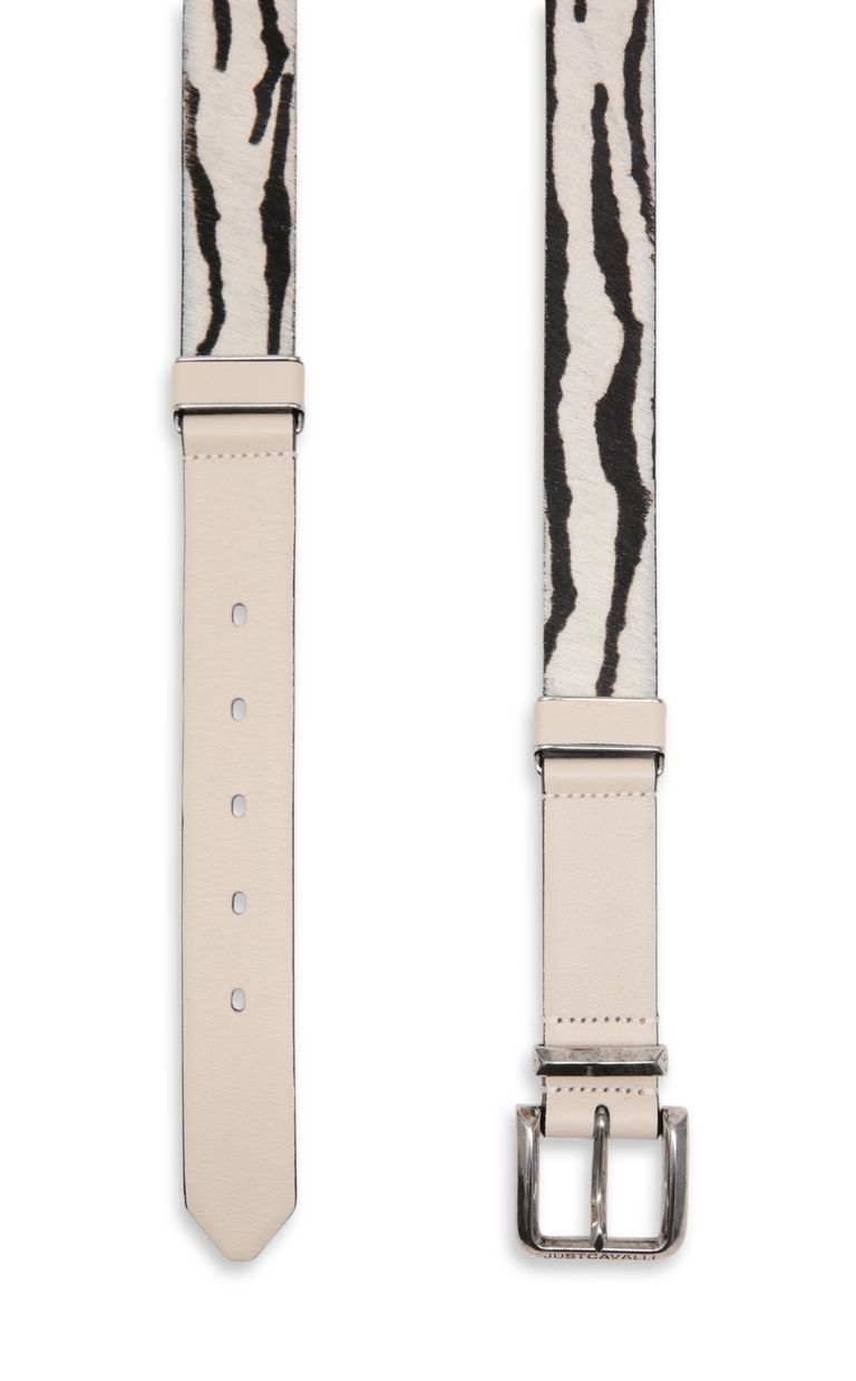 JUST CAVALLI Belt in leather and pony skin Belt Woman d
