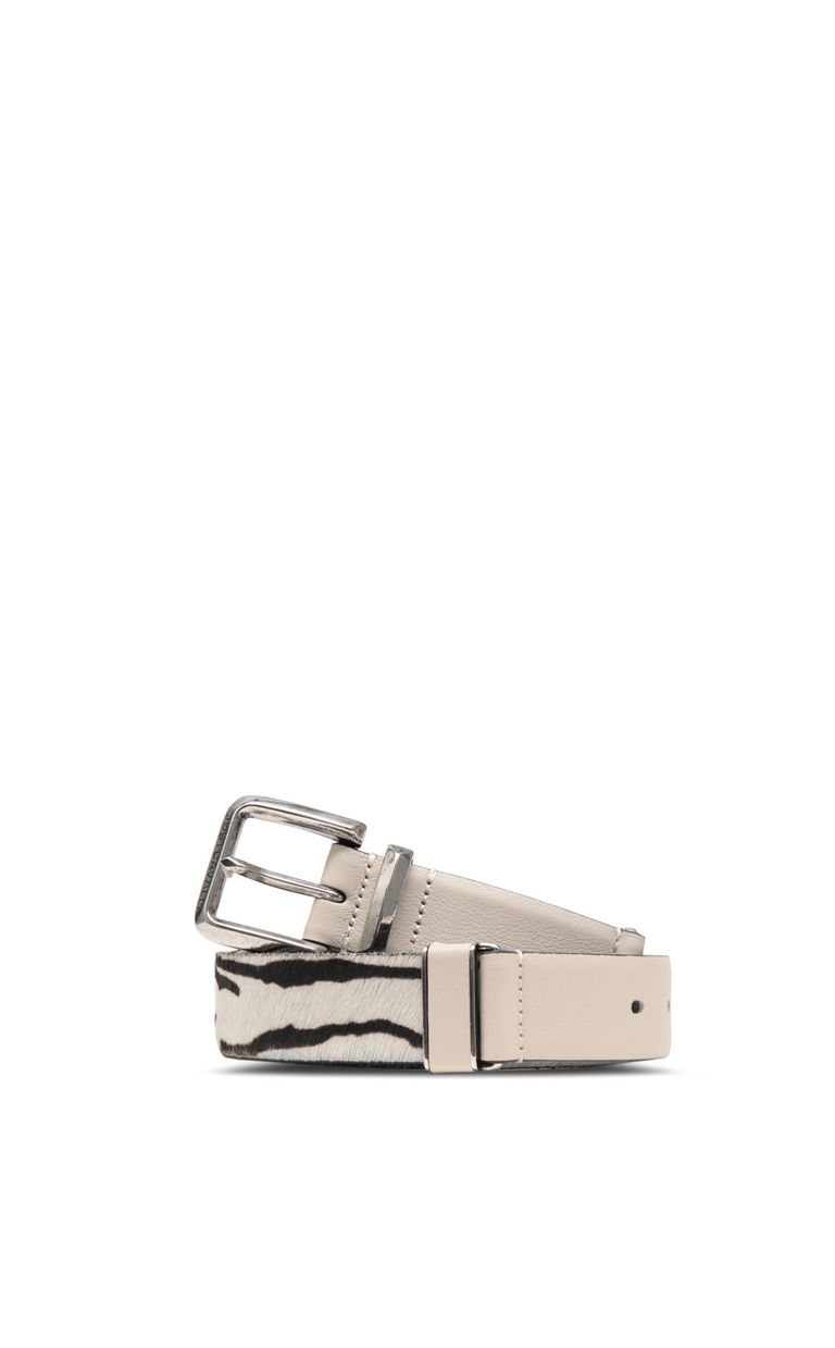 JUST CAVALLI Belt in leather and pony skin Belt Woman f