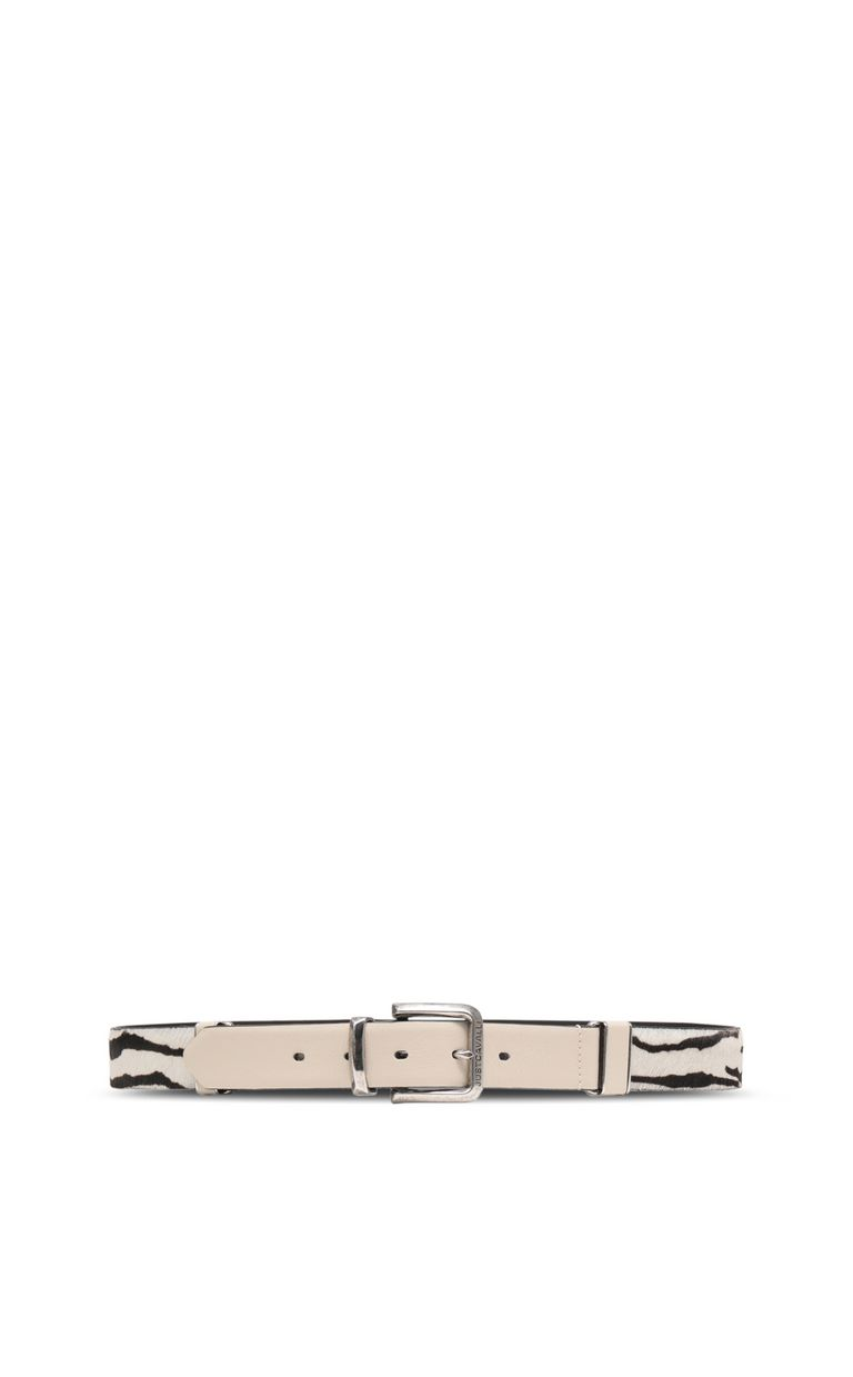 JUST CAVALLI Belt in leather and pony skin Belt Woman r