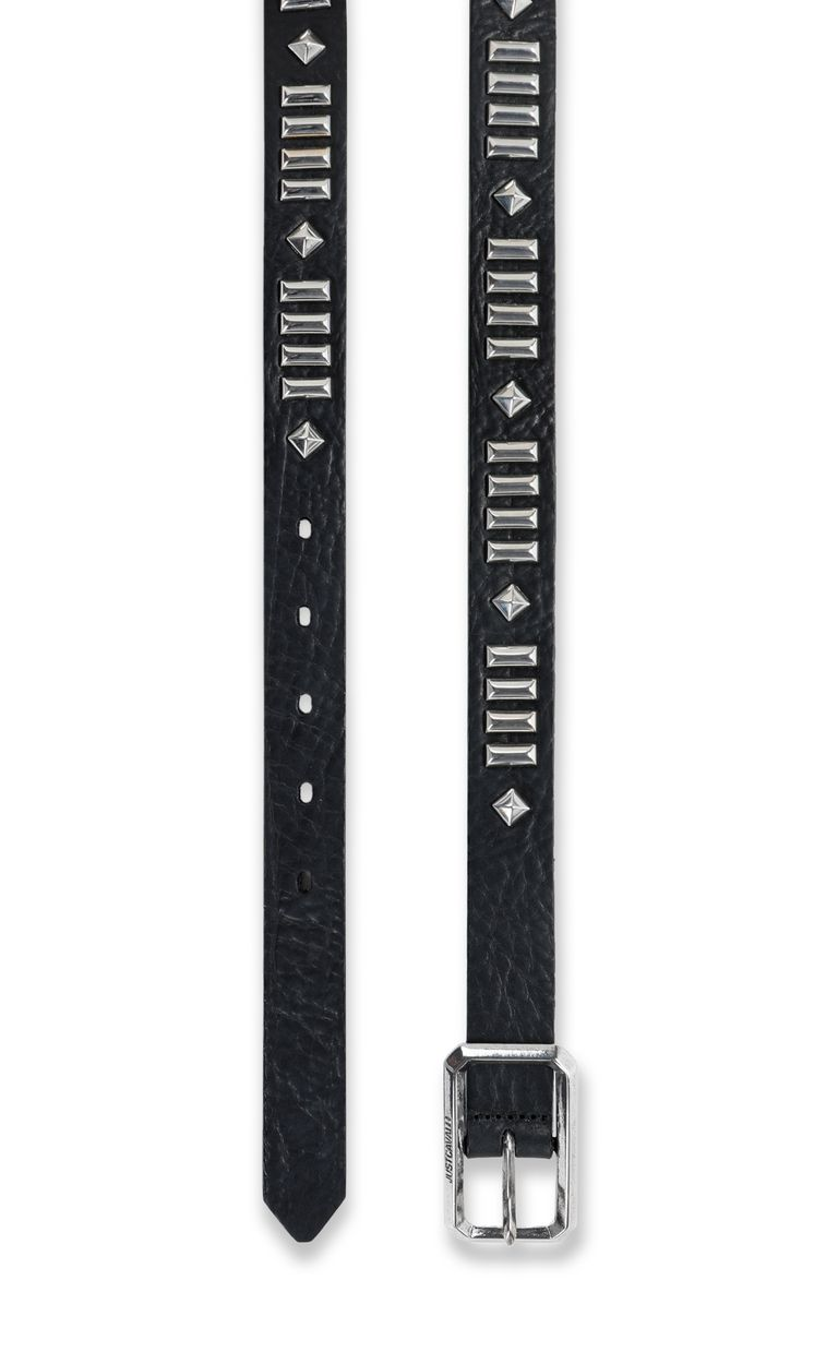 JUST CAVALLI Leather belt with studs Belt Man d