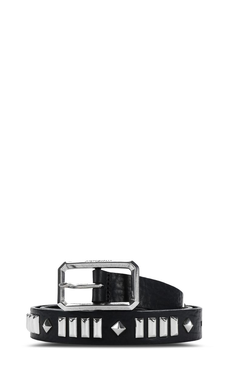 JUST CAVALLI Leather belt with studs Belt Man f
