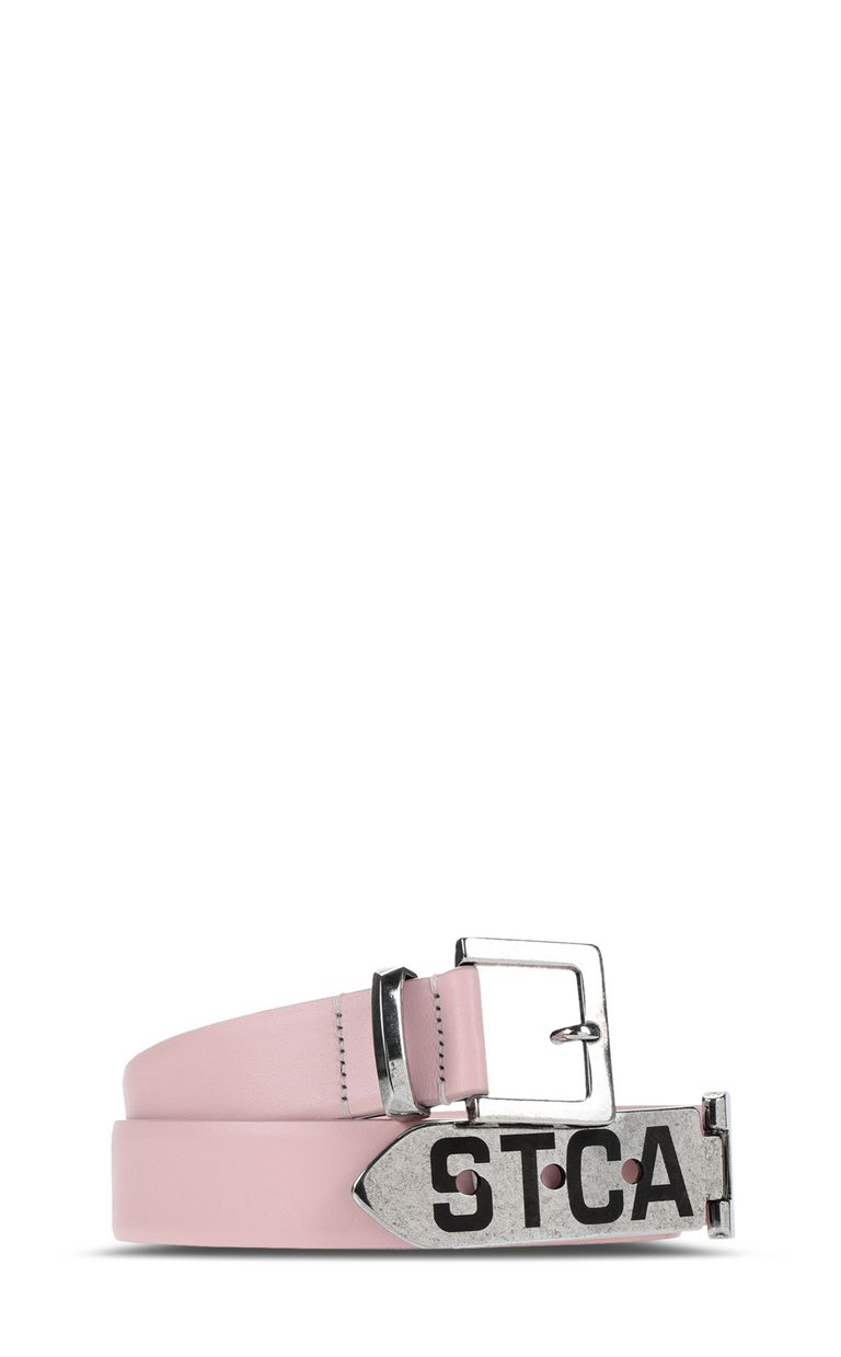 JUST CAVALLI Leather belt with logo Belt Woman f