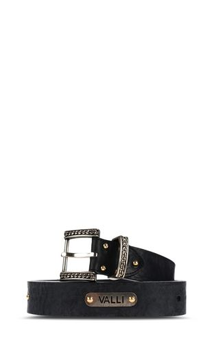 JUST CAVALLI Belt Man Leather belt with snake buckle f