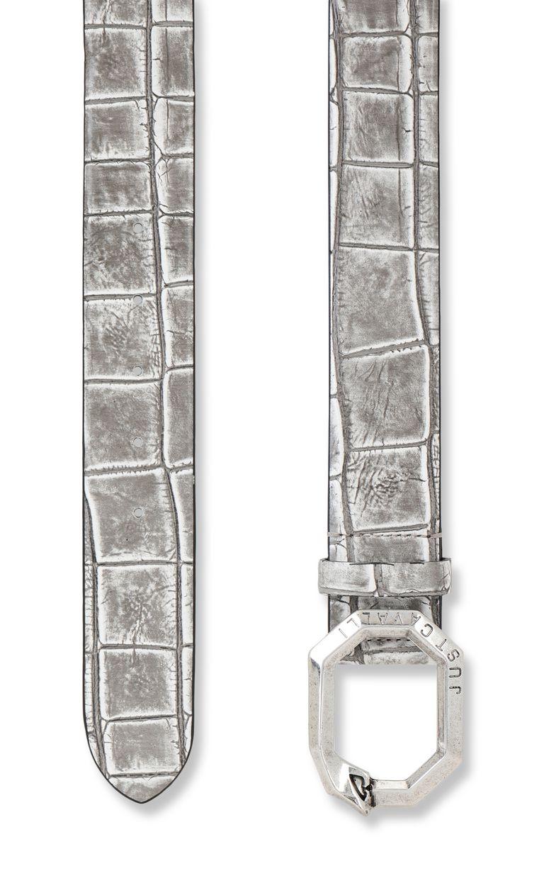 JUST CAVALLI Crocodile-effect leather belt Belt Woman d