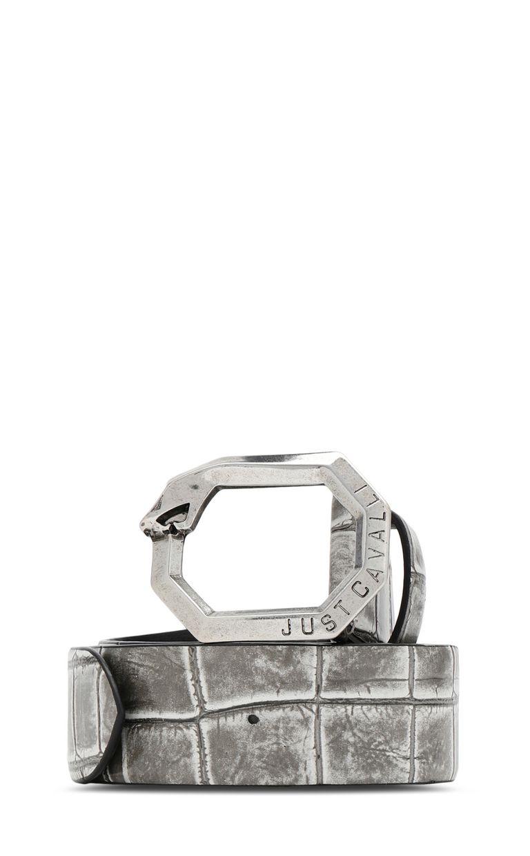 JUST CAVALLI Crocodile-effect leather belt Belt Woman f