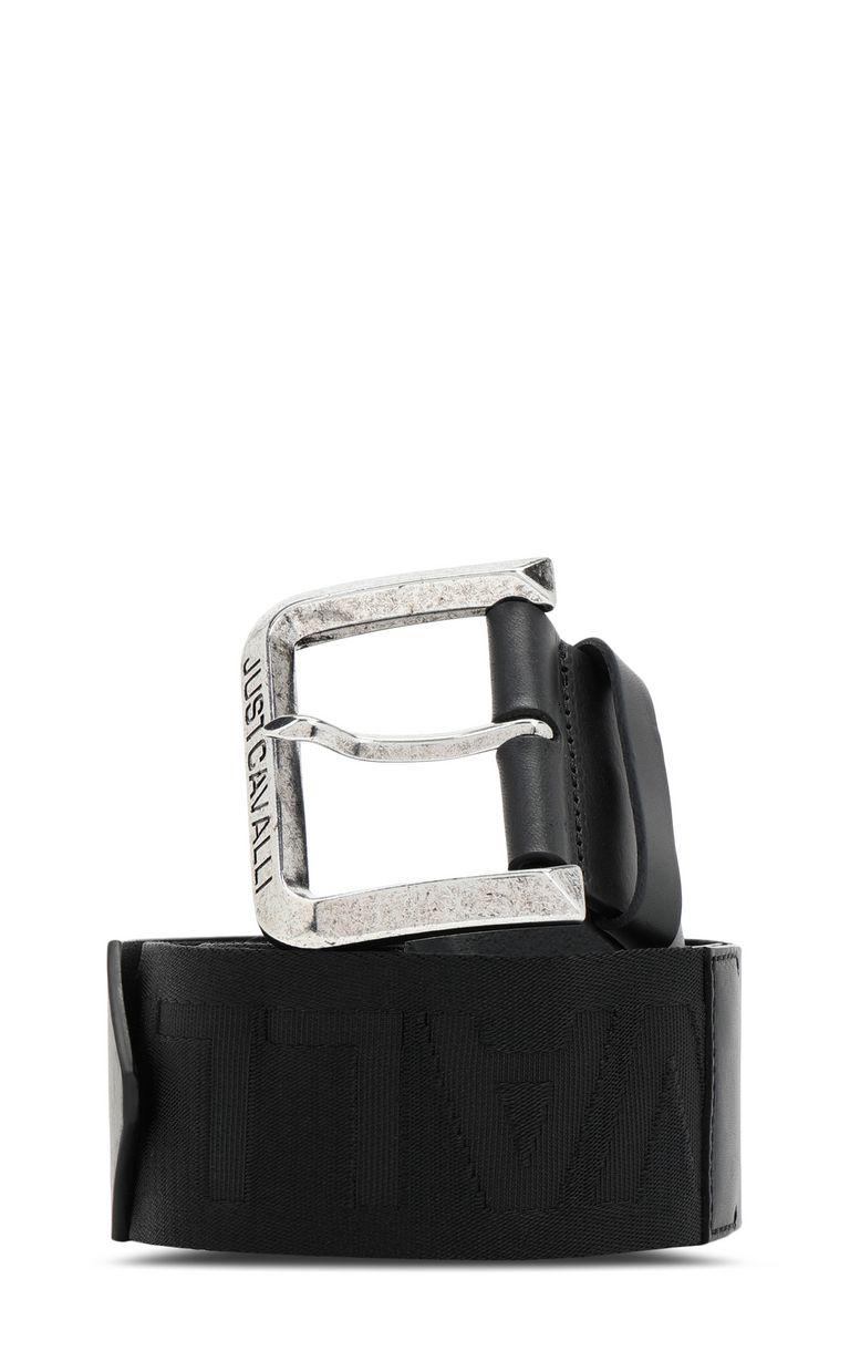 JUST CAVALLI Belt with logo-tape detail Belt Woman f