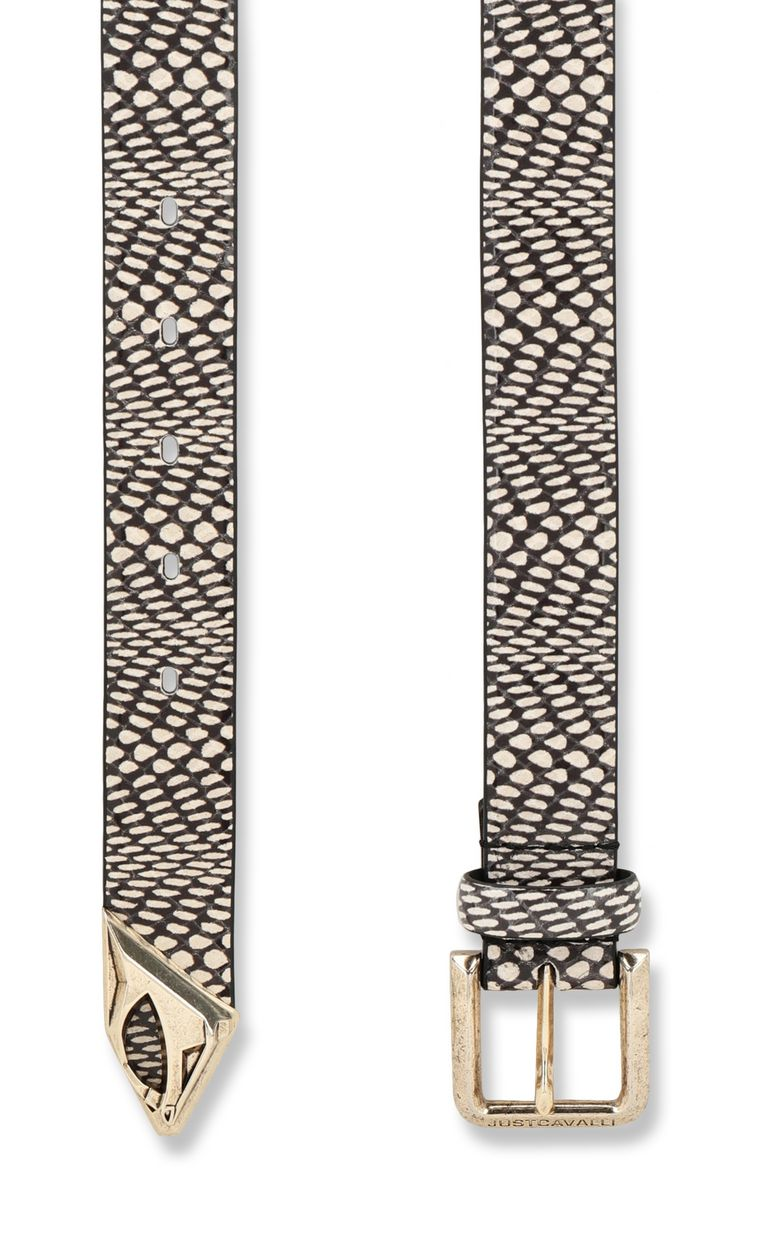 JUST CAVALLI Cobra-print leather belt Belt Woman d