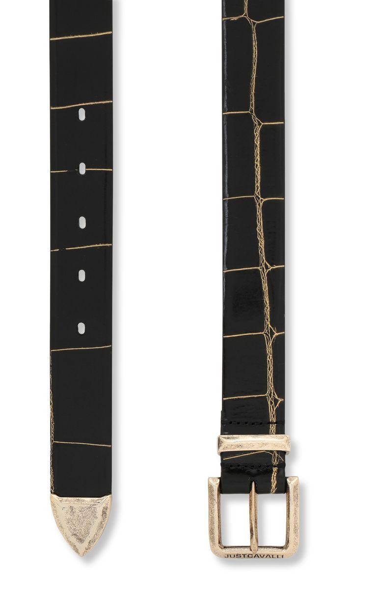 JUST CAVALLI Animal-patterned leather belt Belt Man d