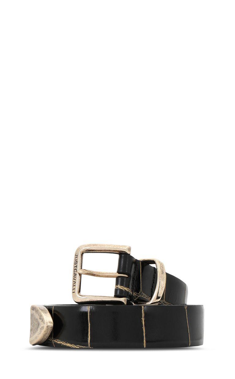 JUST CAVALLI Animal-patterned leather belt Belt Man f
