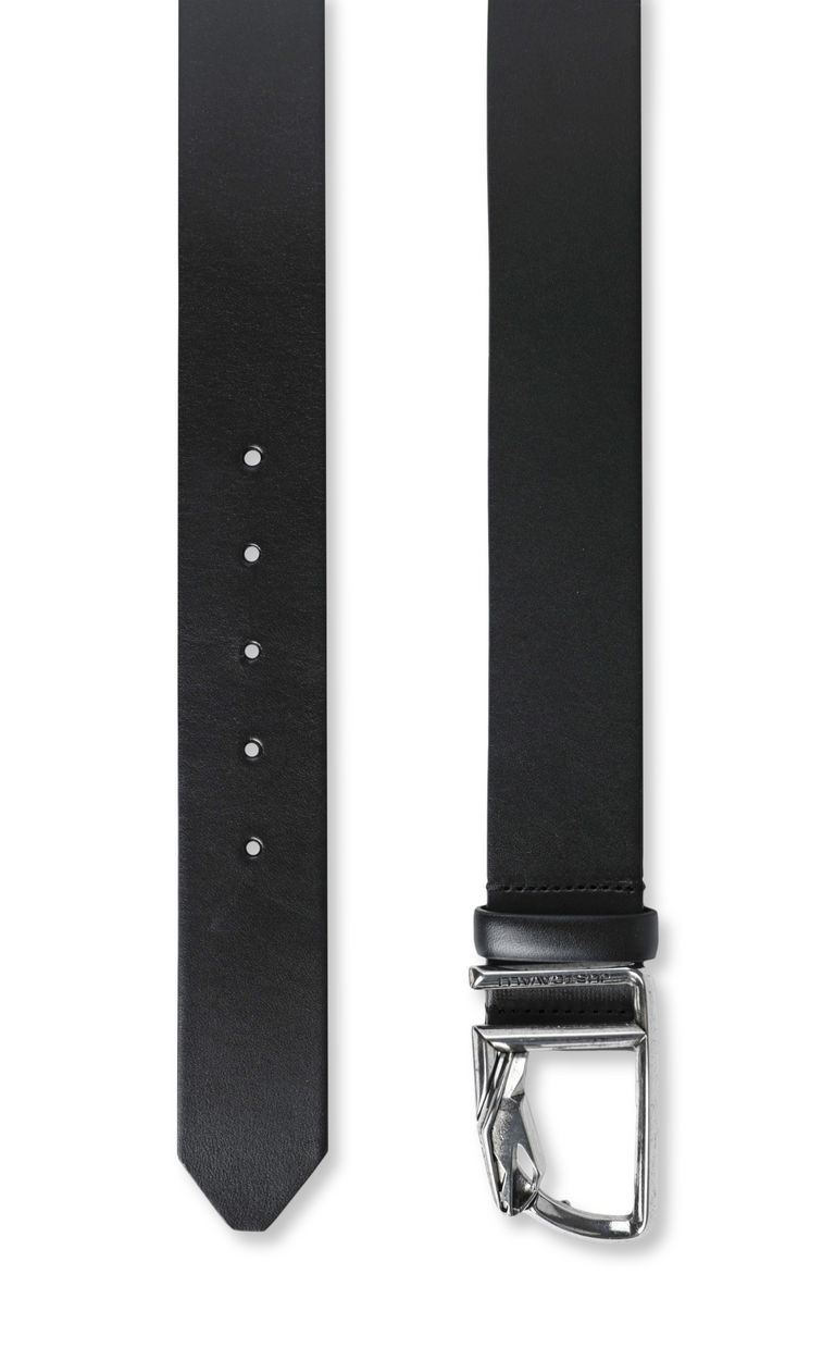 JUST CAVALLI Leather belt with snake buckle Belt Man d