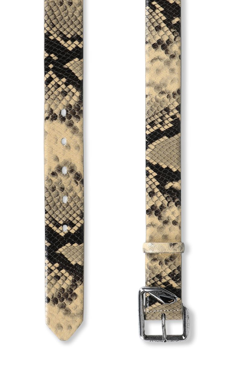 JUST CAVALLI Belt with python print Belt Man d