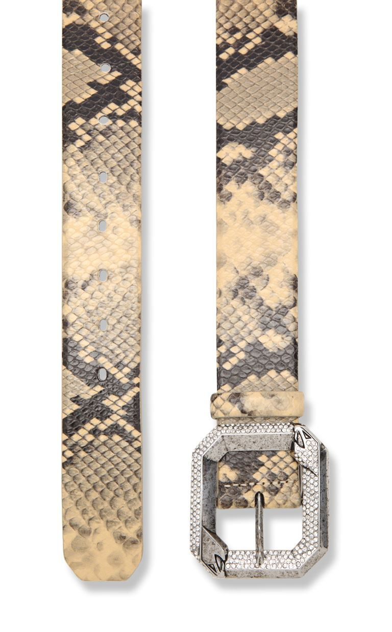 JUST CAVALLI Belt with python print Belt Woman d