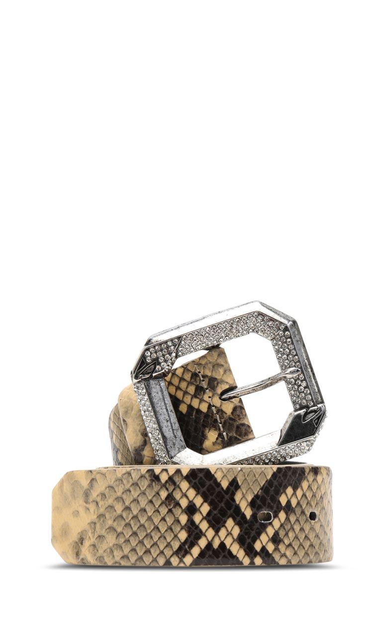 JUST CAVALLI Belt with python print Belt Woman f