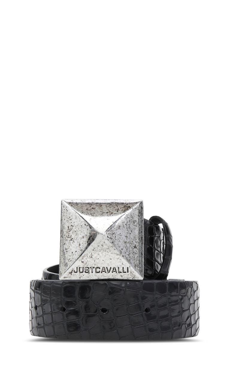 JUST CAVALLI Crocodile-skin-effect belt Belt Woman f