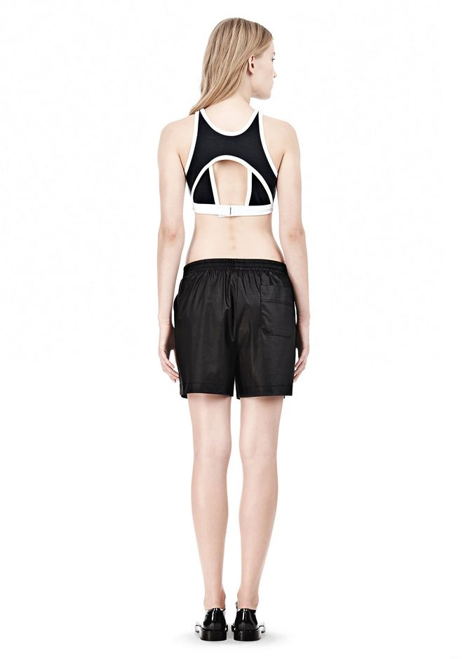T by ALEXANDER WANG  PIQUE DOUBLE KNIT SPORTS BRA TOP Adult 12_n_r