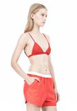 T by ALEXANDER WANG LUX PONTE TRIANGLE BRA TOP Adult 8_n_a